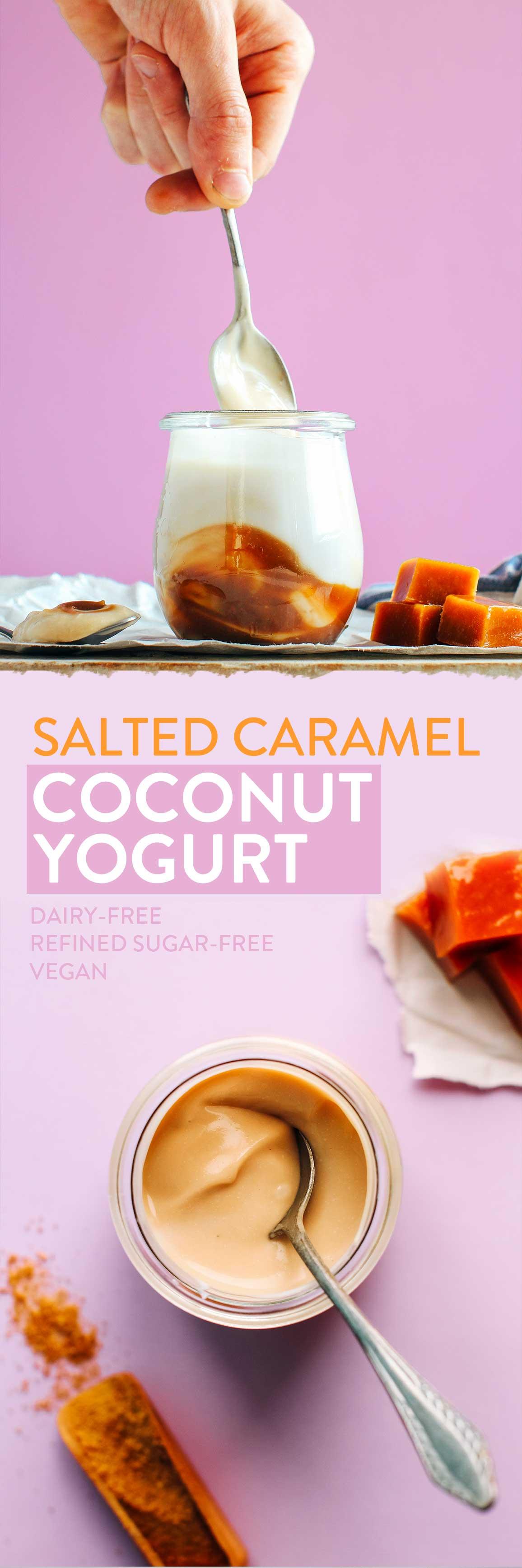 Salted Caramel Coconut Yogurt