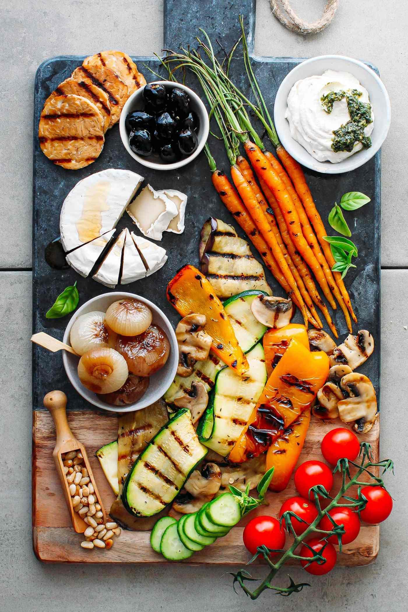 Loaded Vegan Antipasto Platter