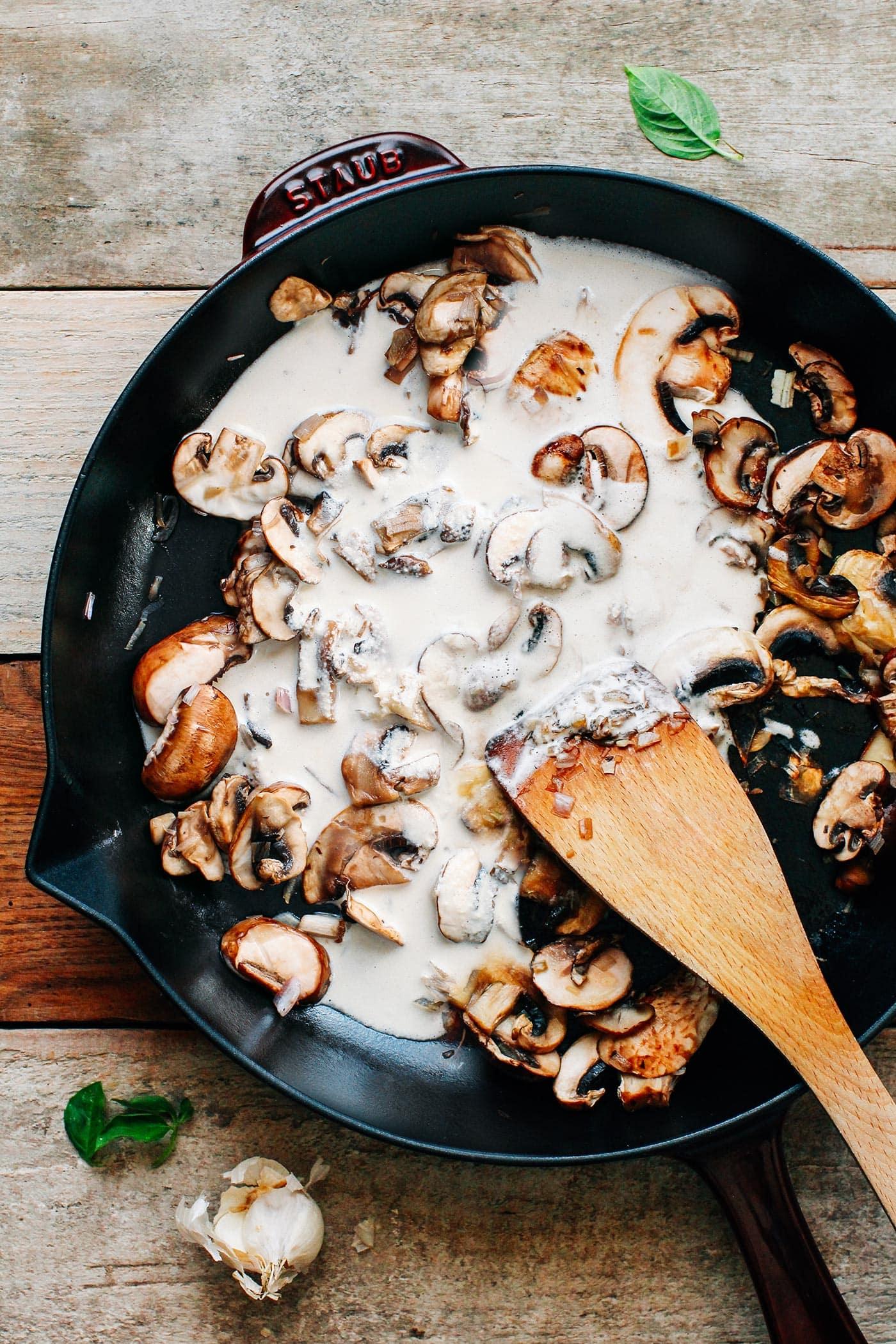 Creamy Mushroom Penne (from Vegan Reset)