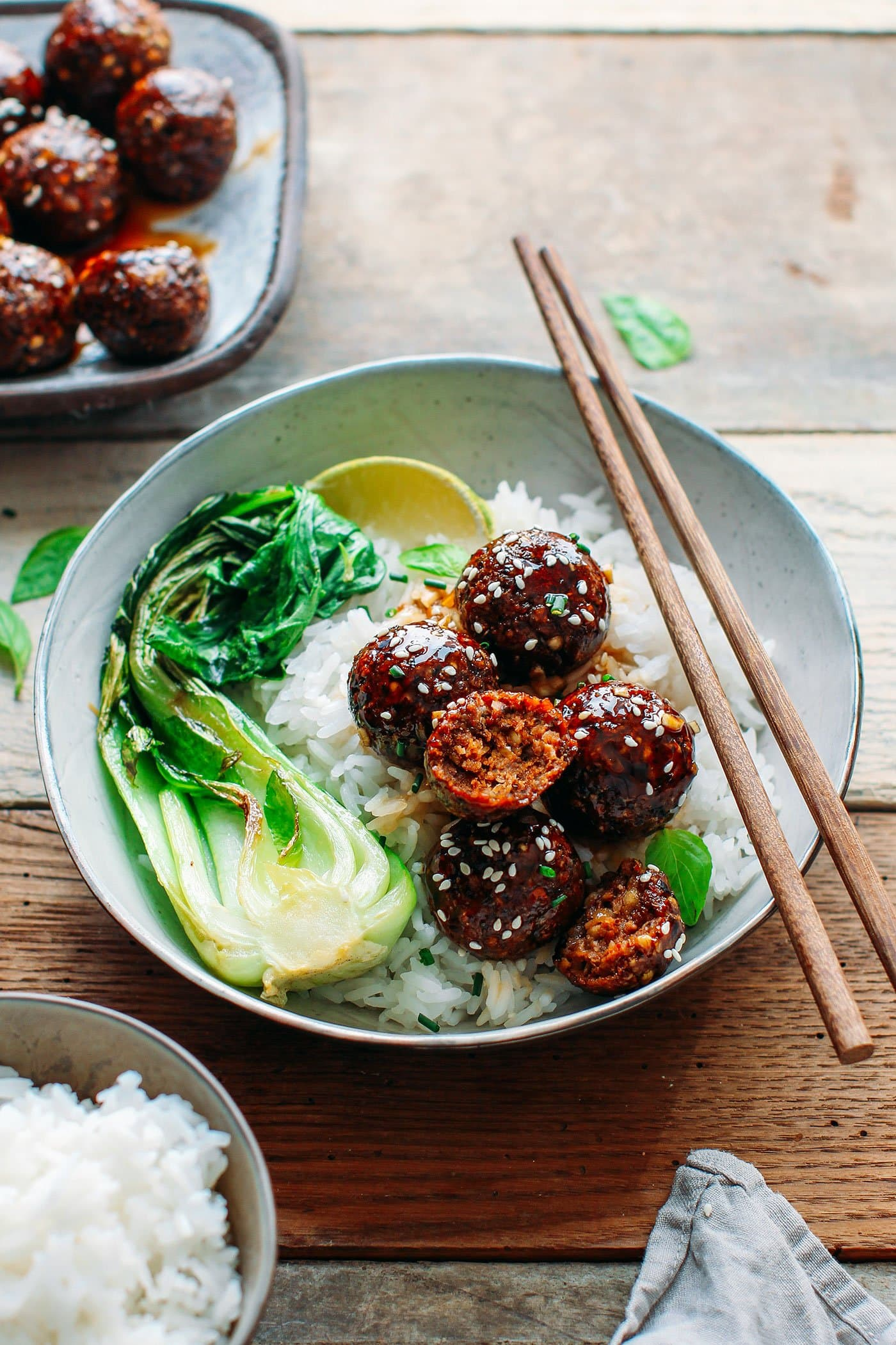 Vegan Tender Teriyaki Meatballs