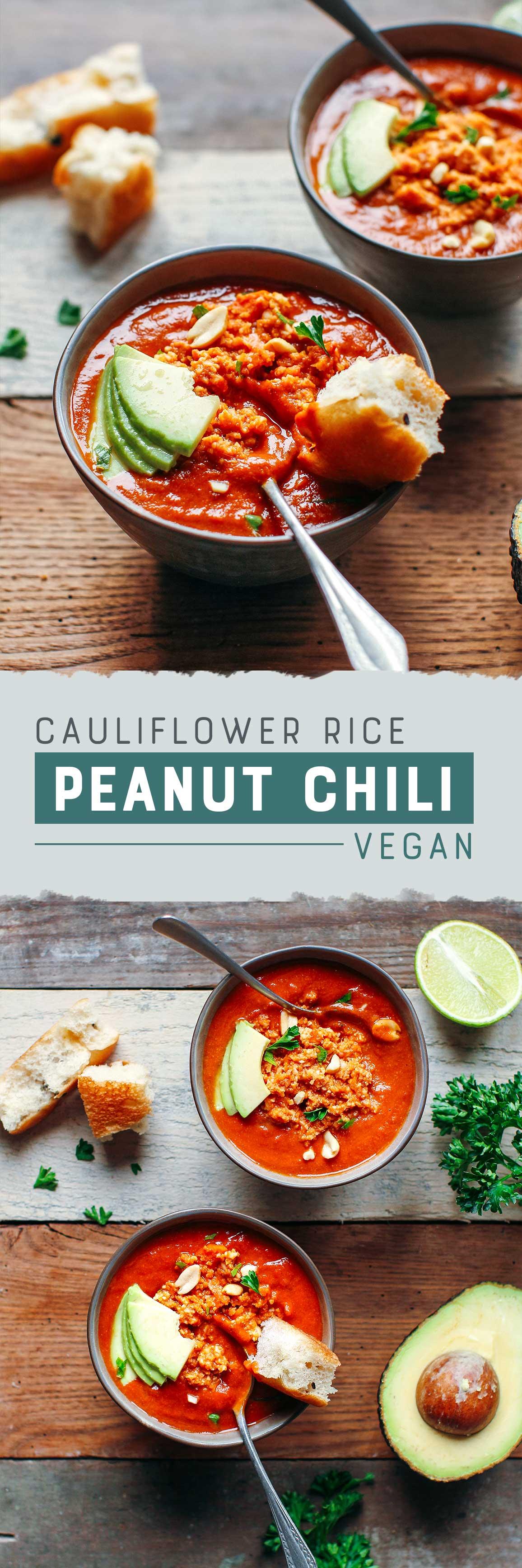 Cauliflower Rice Peanut Chili