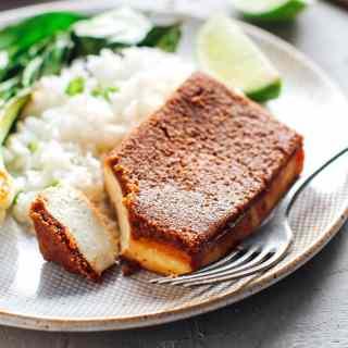 Biscoff Crusted Tofu