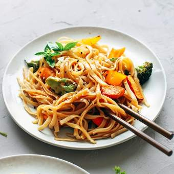 Instant Pot Sesame Basil Noodles