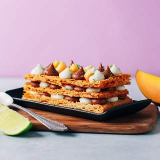 Mango, Coconut & Praline Vegan Millefeuille