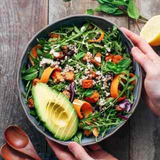 Curried Buckwheat & Tempeh Salad