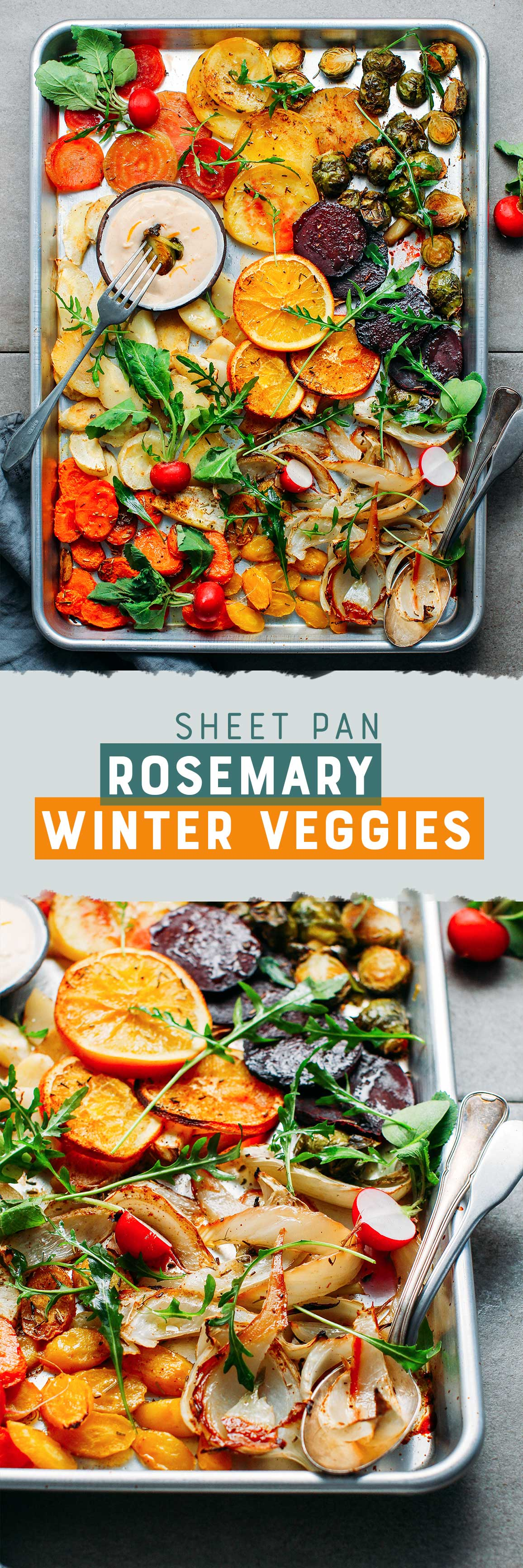 Sheet-Pan Roasted Rosemary Winter Vegetables