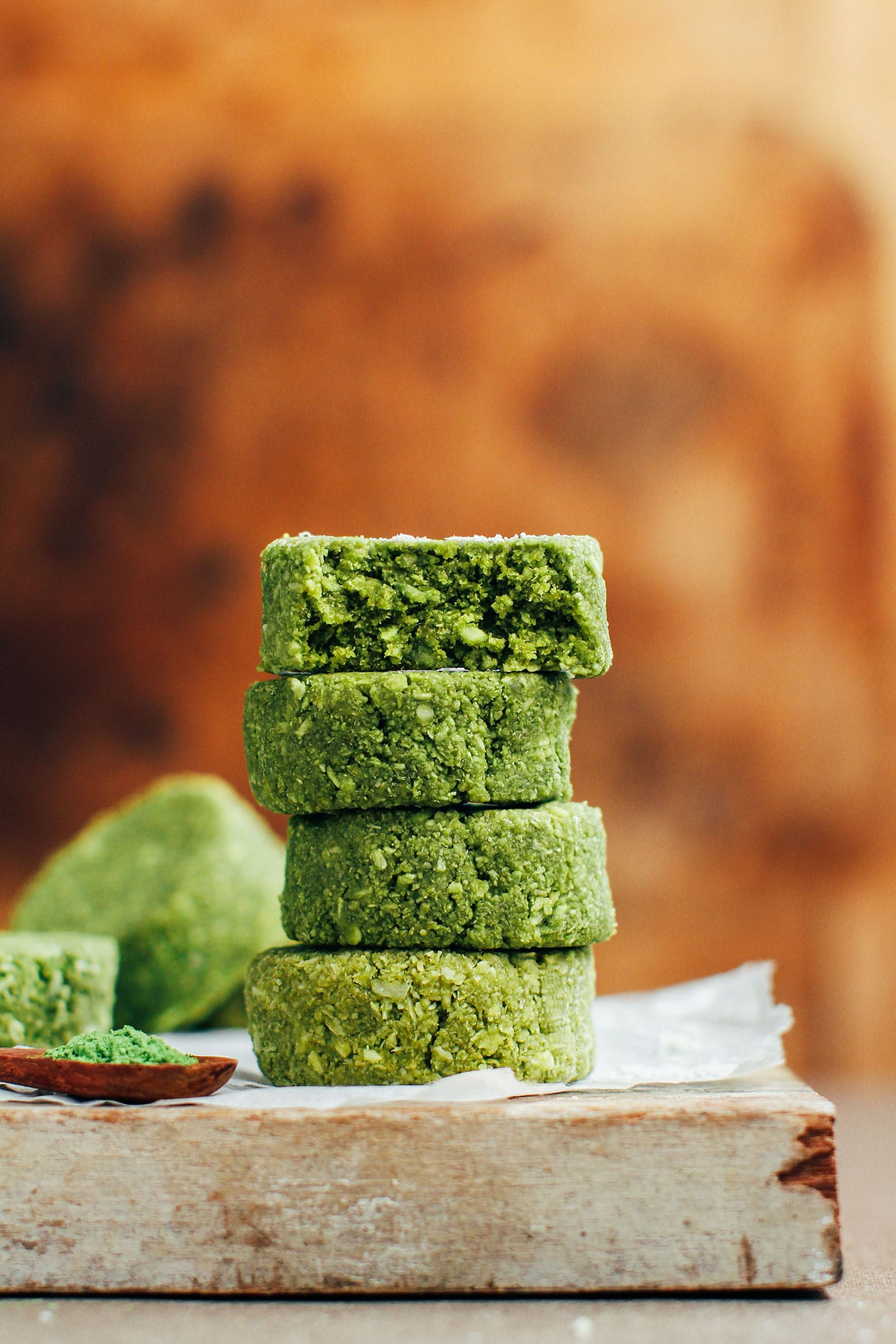 5-Ingredient Chewy Matcha Coconut Cookies
