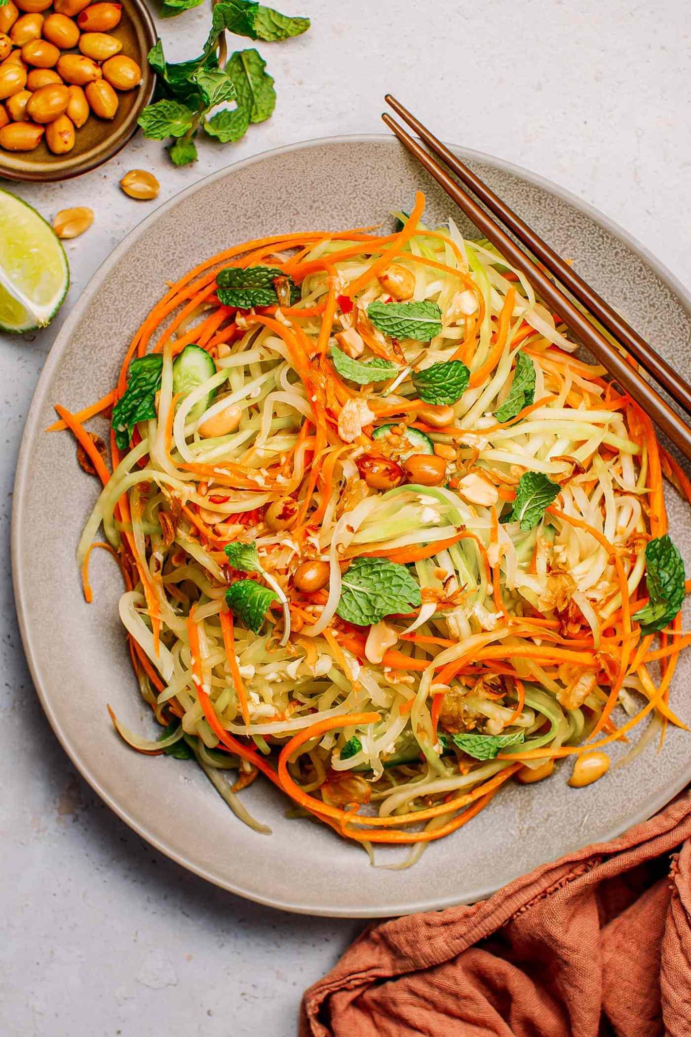 Easy Vietnamese Papaya Salad