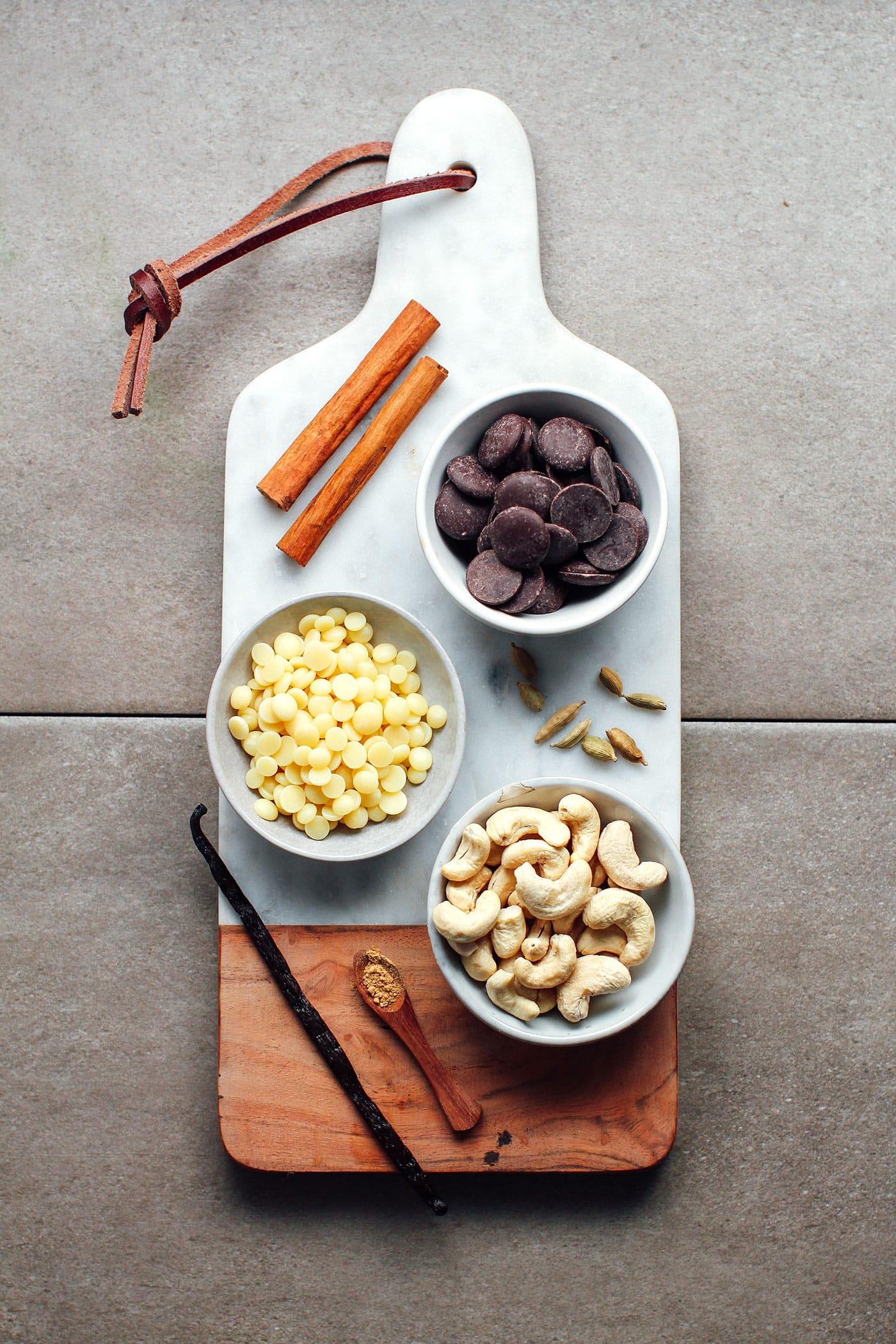 Vanilla Chai Cashew Butter Chocolate Bars