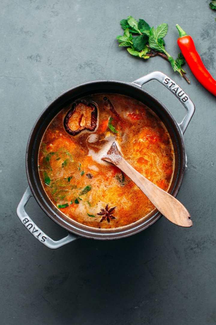 Lemongrass Soup with Fermented Tofu Sauce