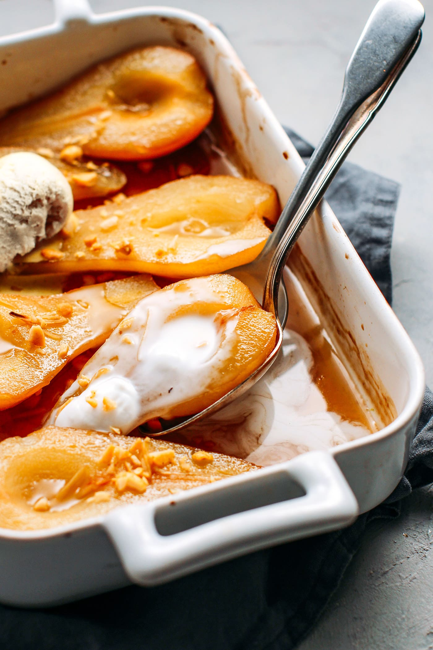 Roasted Pears in Ginger Syrup
