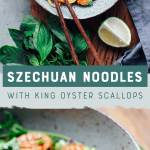 Szechuan Noodles with King Oyster Scallops