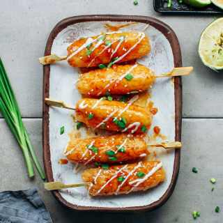 Teriyaki Sticky Rice Kebabs