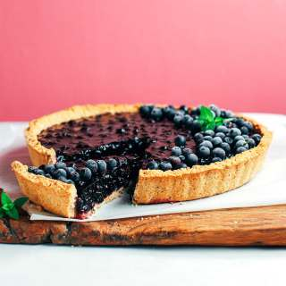 Thick Blueberry Pie (Vegan + Gluten-Free + Refined Sugar-free)