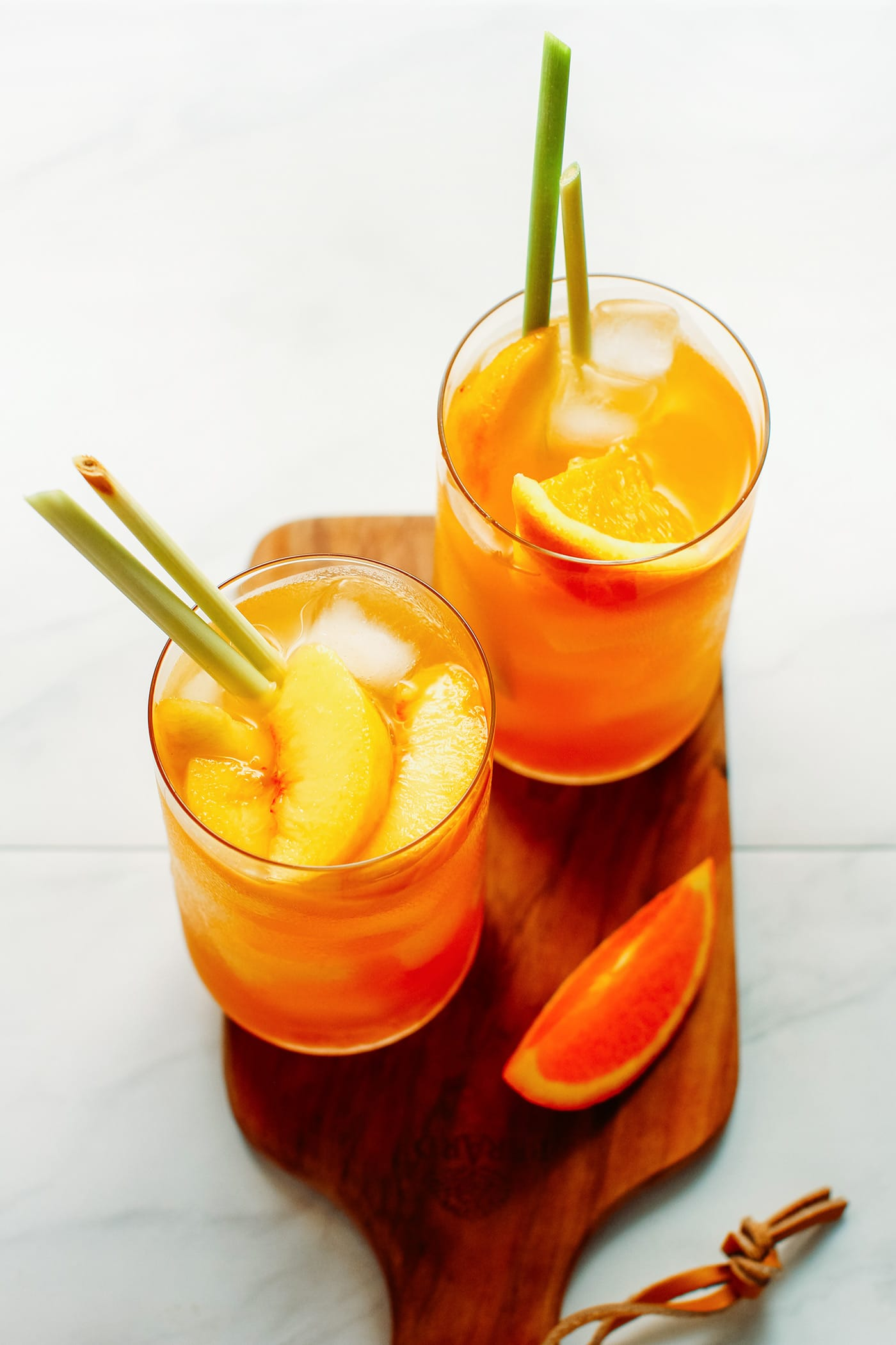 Peach, Orange & Lemongrass Iced Tea