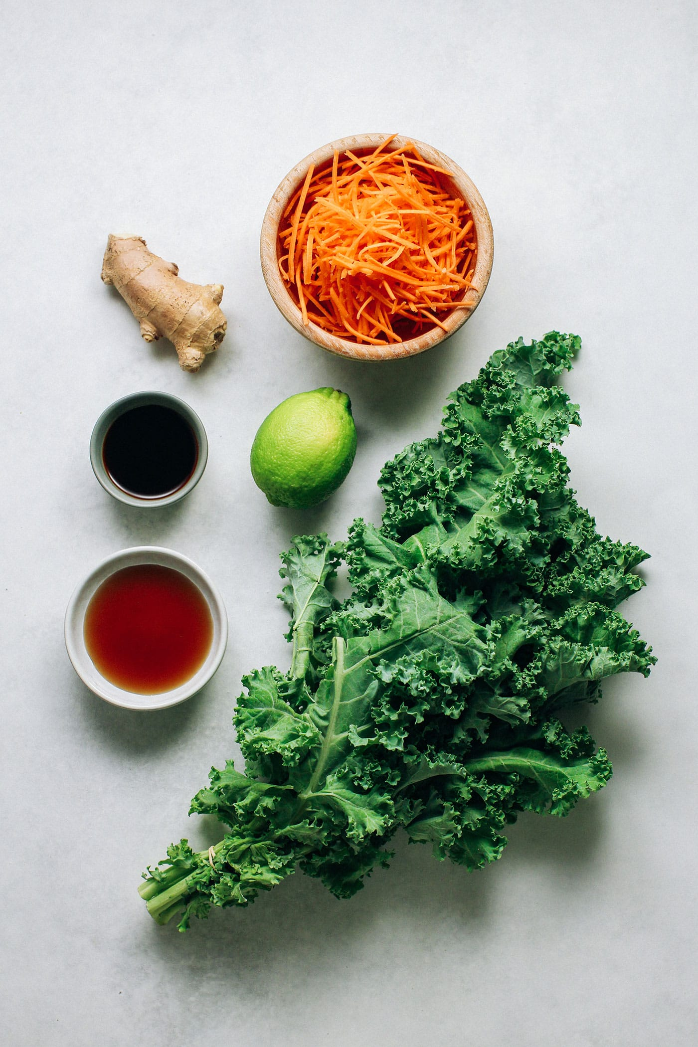 10-Minute Ginger Carrot & Kale Salad