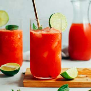 Watermelon Lime Iced Green Tea