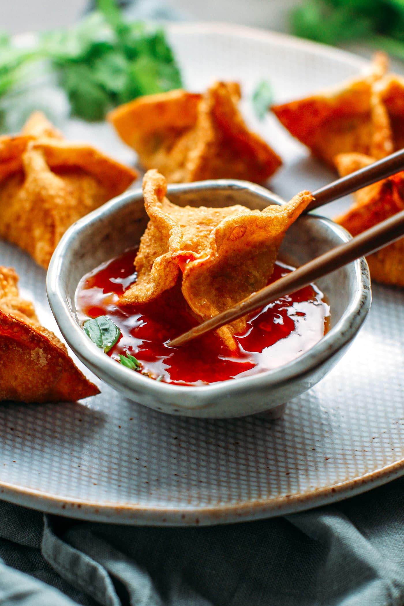 Vegan Fried Mung Bean Wontons