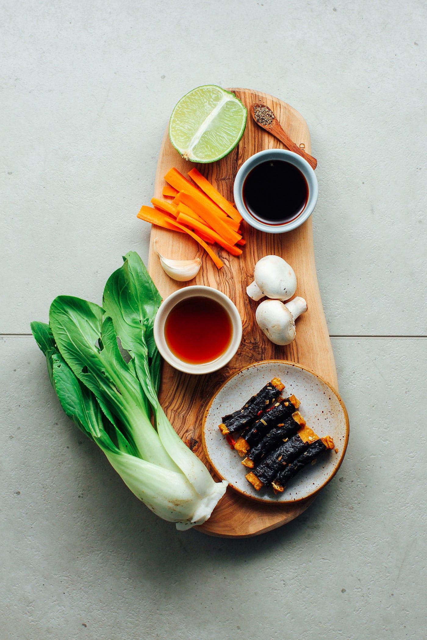 Seaweed Tofu Stir-Fry Noodles