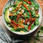 Braised Fennel & Carrot Arugula Salad