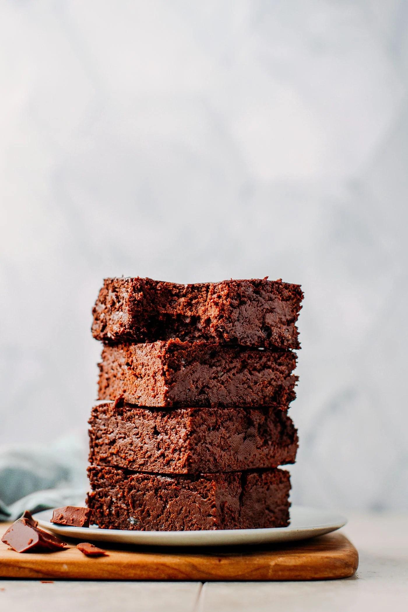 Extra Fudgy Vegan Brownies (GF)