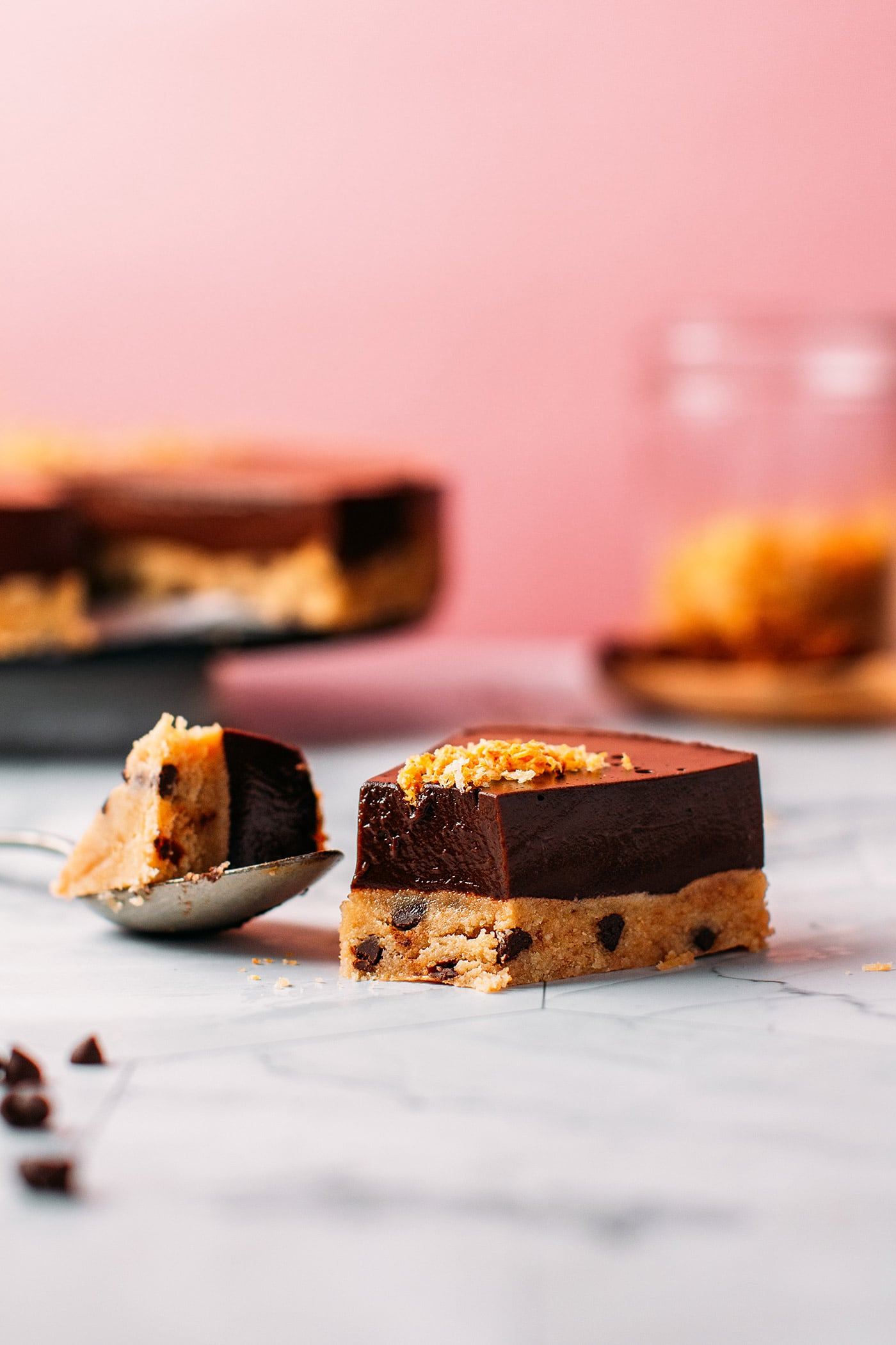 Chocolate Flan with Cookie Dough Crust