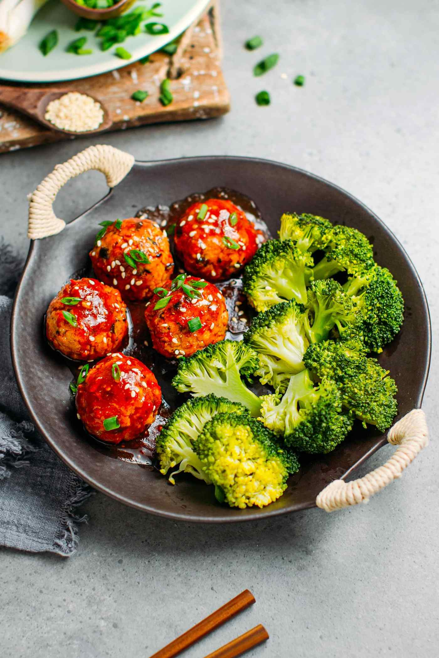 Tofu Balls with Sweet & Spicy Sauce
