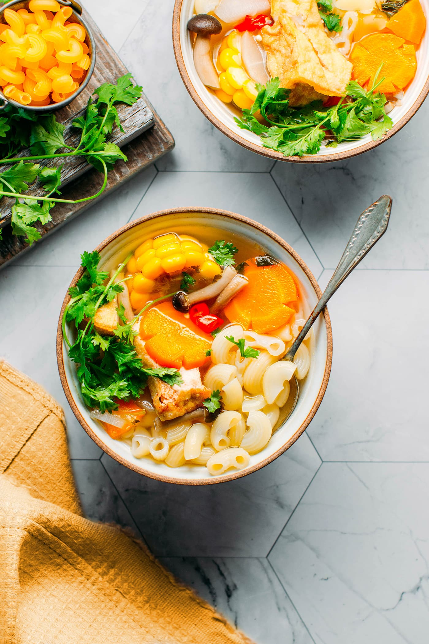 Rich Vegetable Macaroni Soup