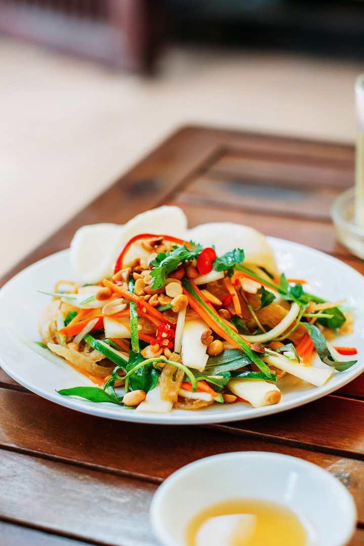 A Guide to Eating Vegan in Viet Nam - Gỏi Củ Hủ Dừa