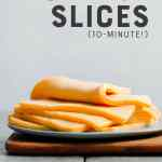 Vegan Cheese Slices (10-Minute!)