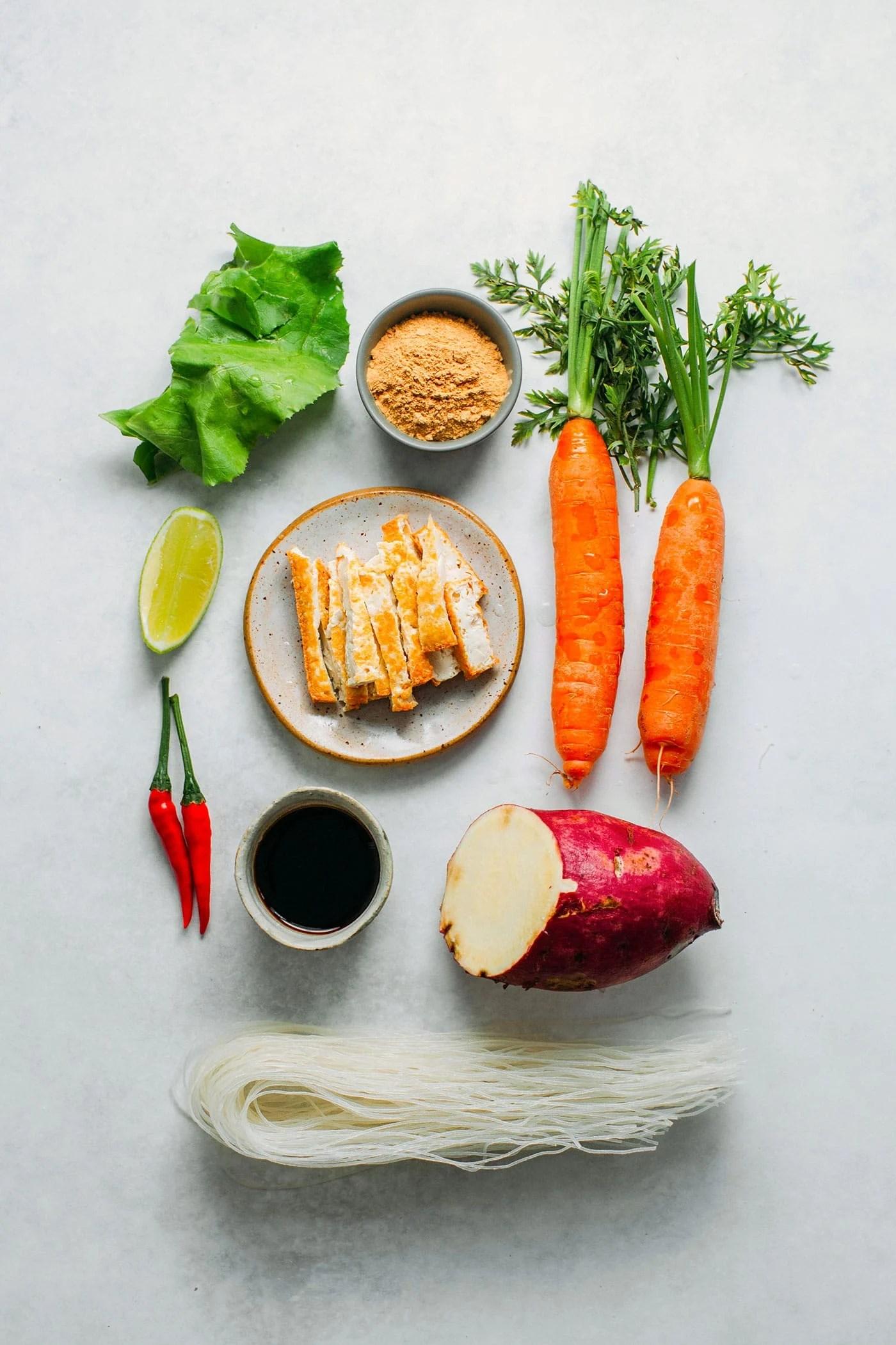 Vegan Bì Cuốn (Vietnamese Rolls)