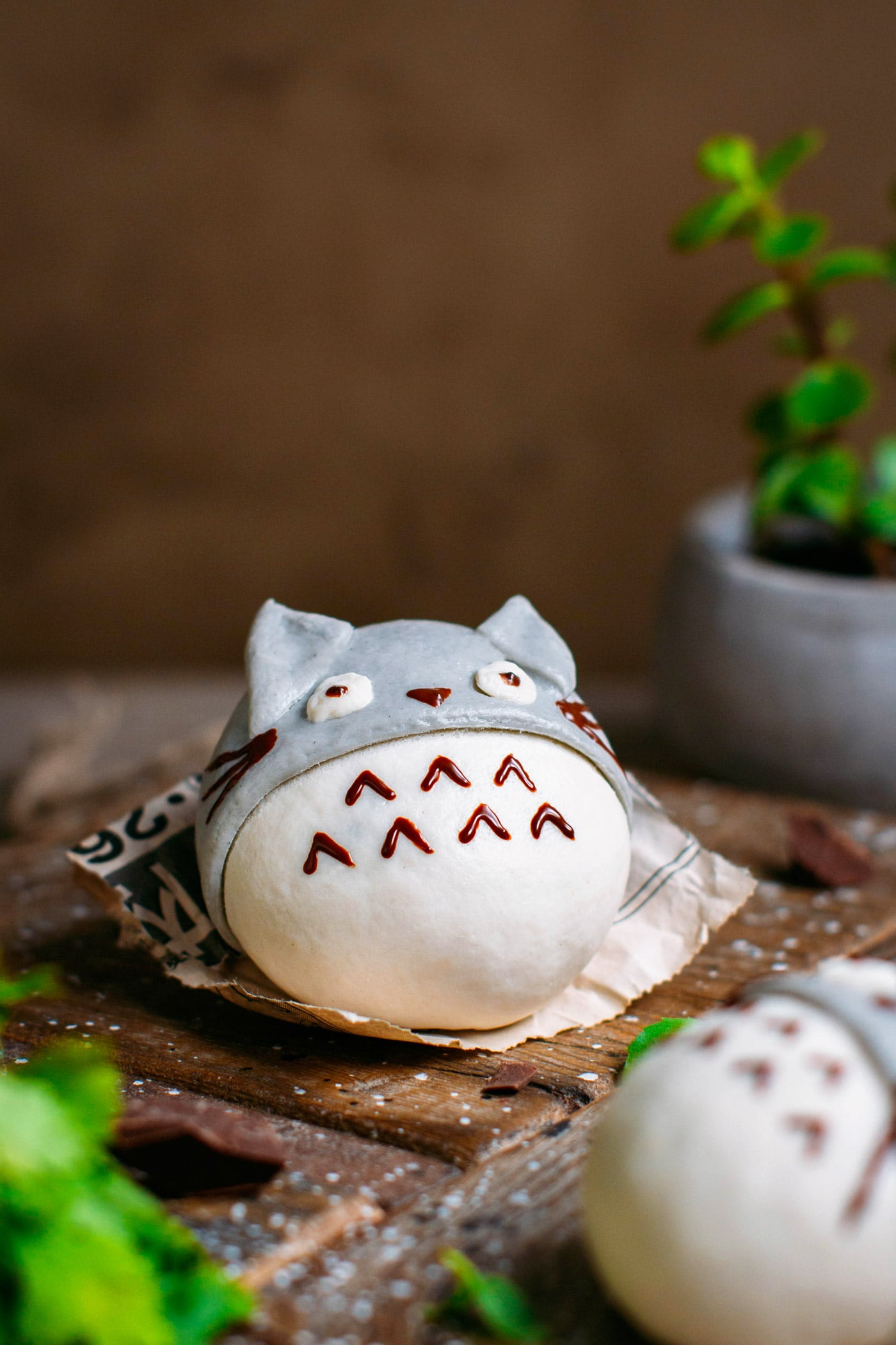 Totoro Steamed Buns (Chocolate Filled!)