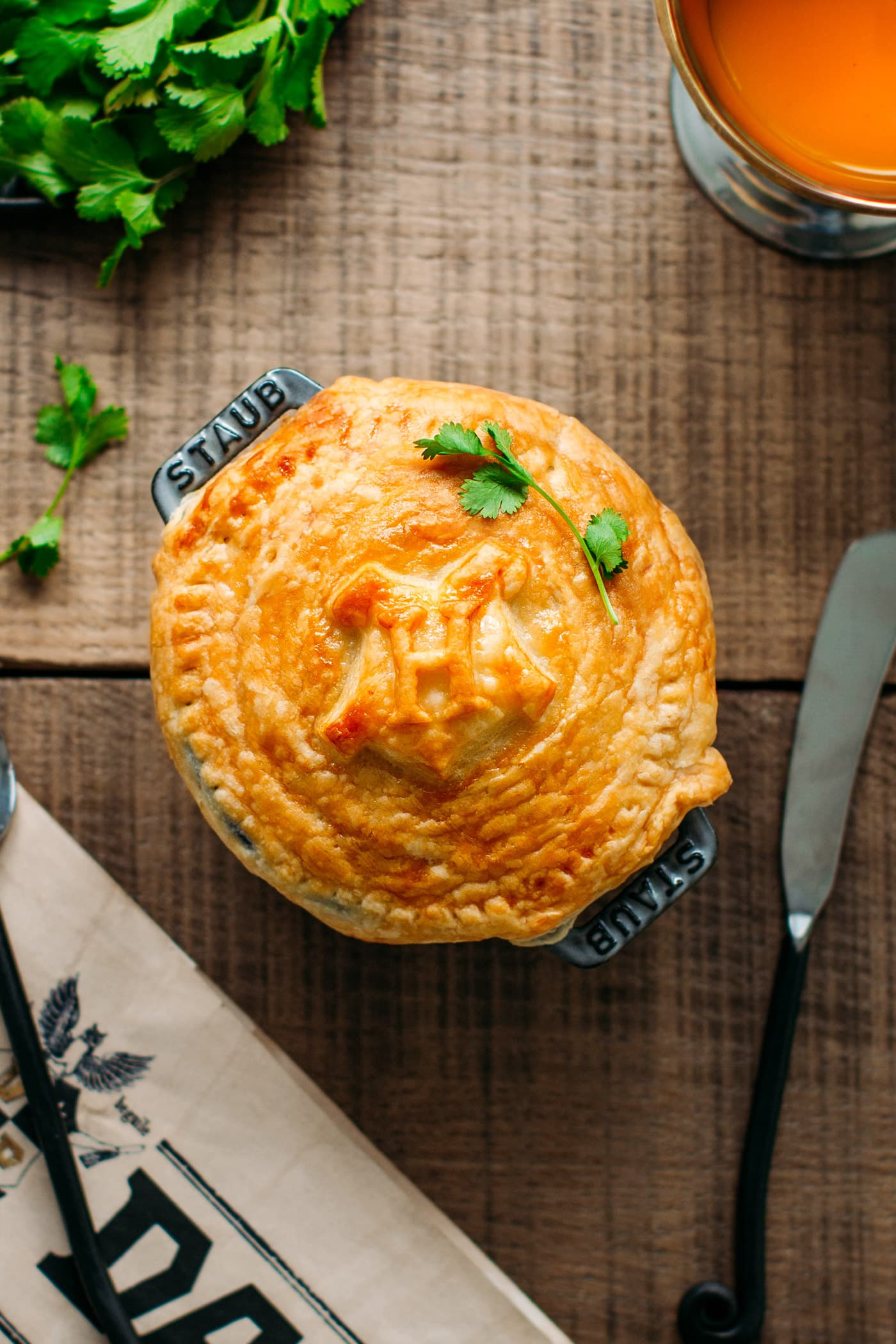 Hogwarts' Butter Mushrooms Pot Pie