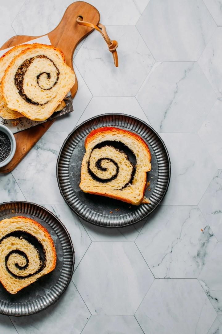 Black Sesame Swirl Brioche
