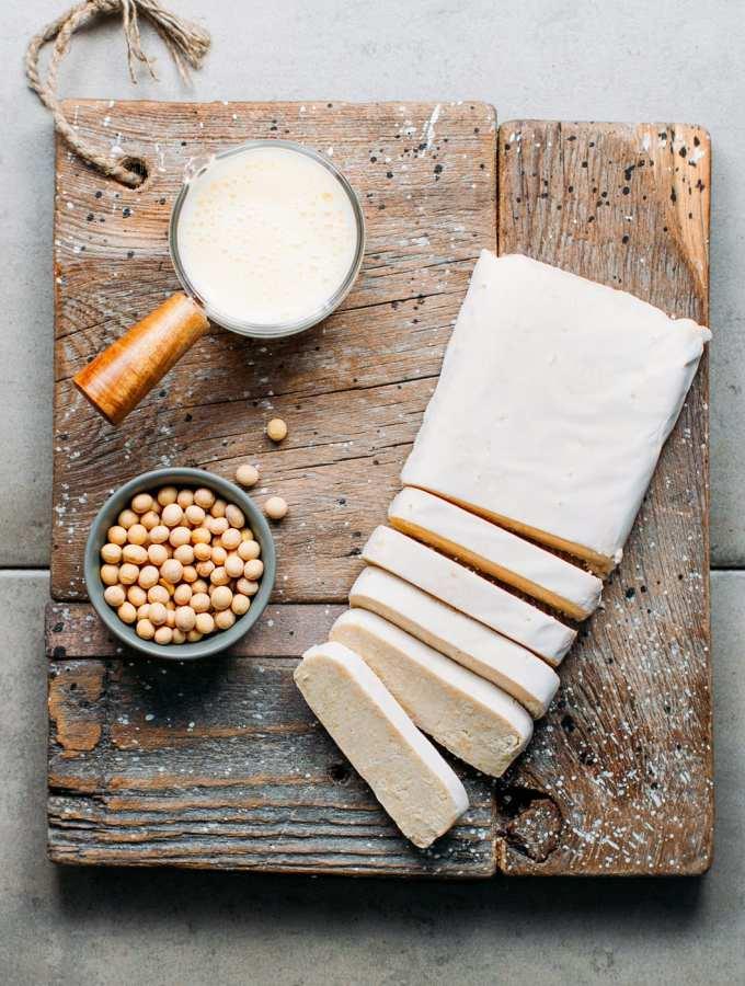 Okara Tempeh + Homemade Soy Milk