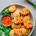 Tofu Wontons with Spicy Sour Sauce
