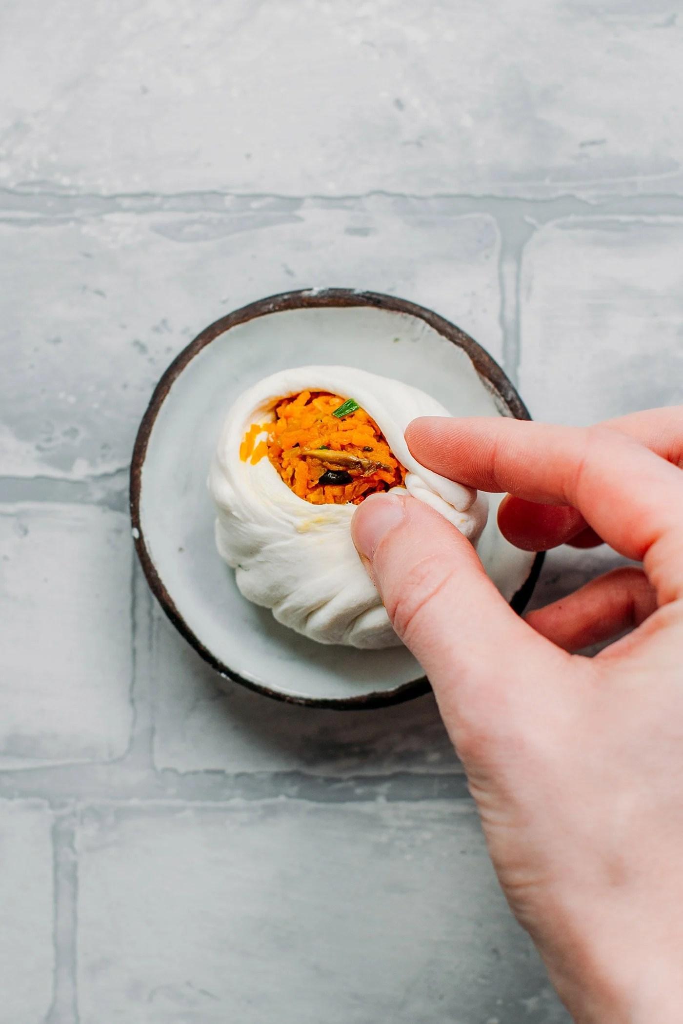Sweet Potato Steamed Buns (Bao)