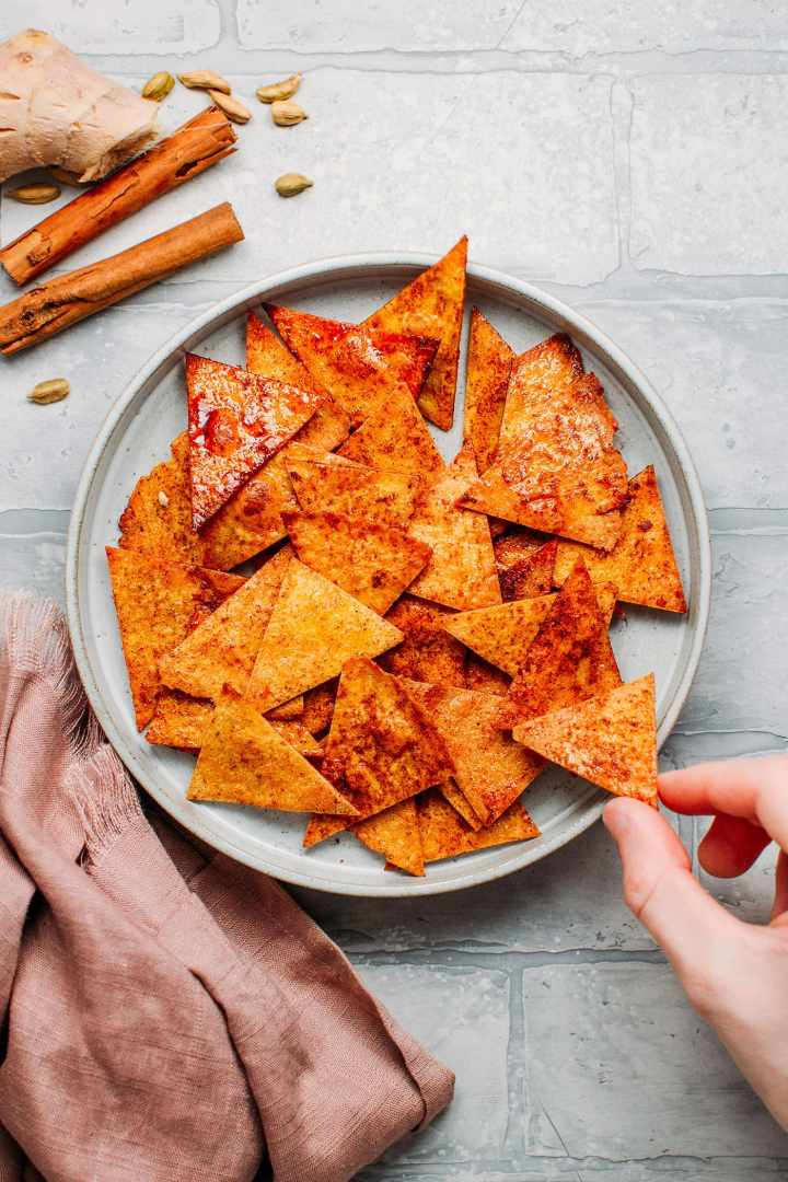 Chai Spiced Tortilla Chips