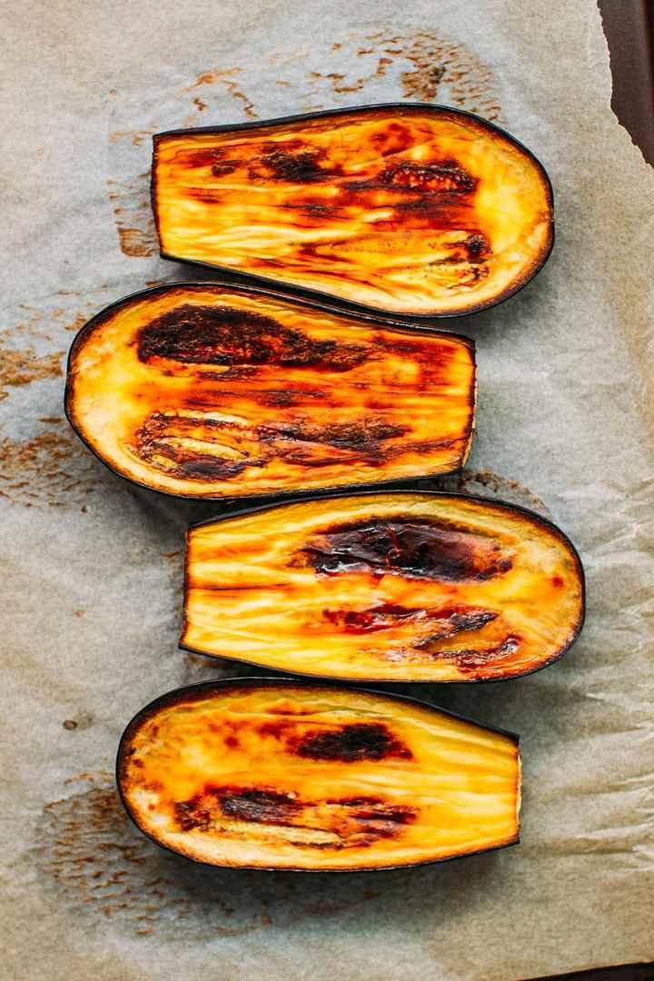 Eggplant Dip with Smoky Tempeh Scramble