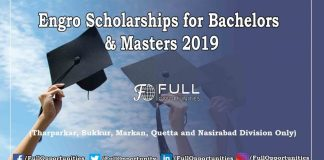Engro Scholarships for Bachelors and Masters