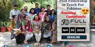 Paid Fellowship at Teach For Pakistan