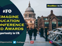 Conference in UK: Reimagine Education Conference and Awards