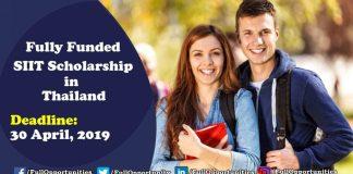 SIIT Scholarship Program in Thailand 2019 Program
