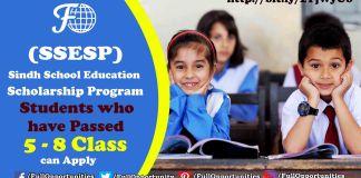Sindh School Education Scholarship Program 2019-20 (SSESP)