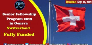 Senior Fellowship Program in Geneva, Switzerland 2019