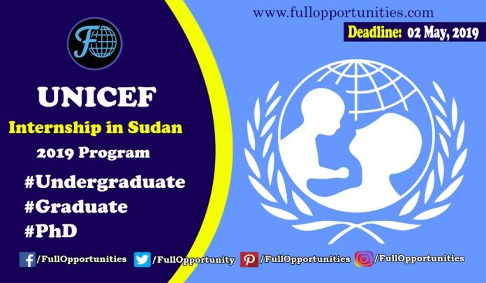 UNICEF Internship in Sudan 2019 program