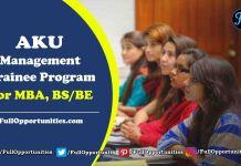 Aga Khan Management Traineeship 2019