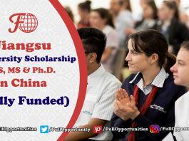 Jiangsu University Scholarship in China