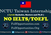 NCTU Taiwan Internship Program