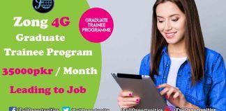 Zong Graduate Trainee Program 2019 (35000/= Per Months)